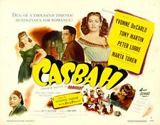 Yvonne DeCarlo - Casbah  (1948) - 11 x 14 LC Reprint