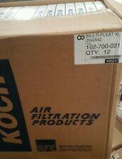 Koch Air Filters Multi-Pleat 25 X 25 X 2 .(10) count. # 102-700-021 New