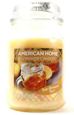 Large Clear Glass Jar American Home By Yankee Yellow Candle Sun Brewed Tea 19Oz