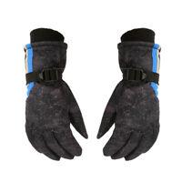 Winter Ski Gloves for Boys/Girls Kids Children Warm Snowboard Mittens Black New