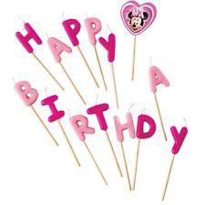 "Disney Minnie Mouse Bougies ""happy Birthday P"
