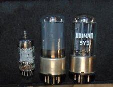 3 NOS BRIMAR TUBES England Metal Base 6V6GT 5Y3 12AX7 ECC83 5Y3GT FENDER AMP SET