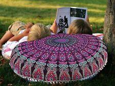 Handmade Mandala Floor Bohemian Indian Cushion Round Pillows cover Throw Pouf