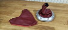 More details for mg f mgf mg tf maroon / red / grenadine (?) gearstick + handbrake leather covers