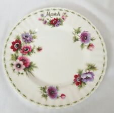 Royal Albert marzo plato de ensalada flor del mes serie