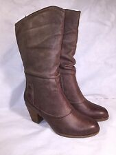 BareTraps Womens Areli Taupe Mid-Calf Boots Size 7 M BT22832 - NEW