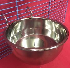 Cat Dog Bird Rabbit Cage Clip On Water Food Bowl Countainer 2 Hook Coop Cup 12cm