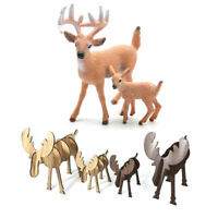 Mini Deer Figure Christmas Doll White-tailed Reindeer Home Party Decorative Gift