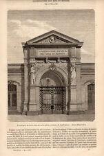 CONSERVATOIRE DES ARTS ET METIERS PARIS PRESS ARTICLE 1855 FRENCH CLIPPING