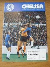 14/09/1974 Chelsea Arsenal V (cambios de equipo, algunas manchas)