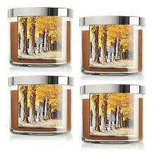 4 Bath & Body Works LEAVES 3-Wick Filled Candle 14.5 oz