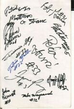 1995 Delaware Fightin' Blue Hens Autographed Page by 13 NCAA Basketball