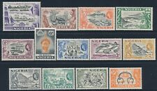1953-1958 NIGERIA DEFINITIVES SET OF 13 MINT HINGED MH SG69-SG80
