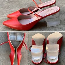 Kate Bosworth Matisse Lois Pointy Toe Mary Jane Pump Lucite Heel Mule 8 1/2 Red