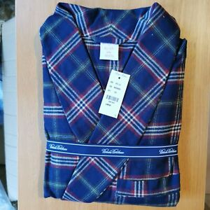 Brooks Brothers Men's All Cotton Traditional Fit Checked Robe / Gown Large