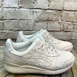 Asics Gel Lyte III Men's Light Gray Leather Lace Up Athletic Shoes Size 9.5