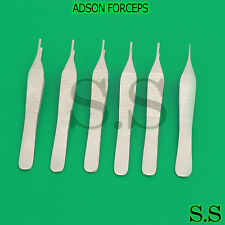 6 Or Adson Forceps Micro Fine Point 475 Serrated Surgical Dental Instruments