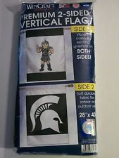 """MSU 2Side MICHIGAN STATE 28x40"""" BANNER FLAG Premium Wincraft NEW PACKAGE SPARTY!"""