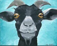 Goat Prints, goat art, 11x14 goat art print, signed by artist