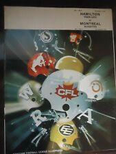 1970 CFL Canadian football program Hamilton Tiger-Cats @ Montreal Alouettes