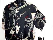 TOMMY BAHAMA Hawaiian Swinger's Club S/S Silk Camp Shirt Medium