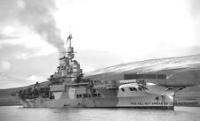 ROYAL NAVY AIRCRAFT CARRIER HMS VICTORIOUS IN HVALFJORD ICELAND IN 1942 - WWII