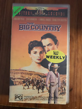 THE BIG COUNTRY GREGORY PECK CHARLTON HESTON RARE ORIGINAL PAL VHS VIDEO