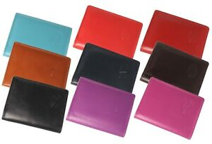 New Designer Leather Credit Card ID Holder with RFID Protection Wallet Note Case