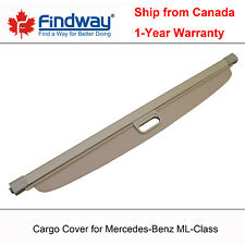 Beige Cargo Cover Anti-Theft Shield For 2006-2011 Mercedes-Benz ML-Class
