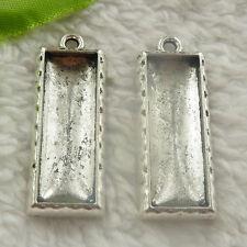 39x15mm Free Ship 28 pcs tibet silver oblong frame charms pendant B4757