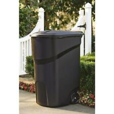 64 Gallon Large Rolling Trash Can Wheeled Waste Garbage Bin Plastic Container