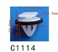 50 Blue Rocker Moulding Grommet Clips With Sealer Fits Hyundai Kia 87756-1F000