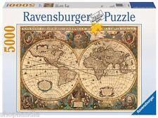 RAVENSBURGER 17411 HISTORISCHE WELTKARTE World Karte PUZZLE 5000 Teile Stücke