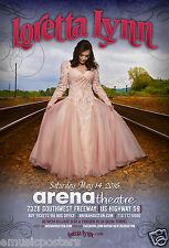 LORETTA LYNN 2016 HOUSTON CONCERT TOUR POSTER- Country, Honky-Tonk, Gospel Music