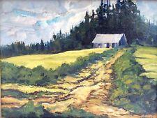 Vintage Oil Painting Landscape  Saltspring Island BC Signed LWagner