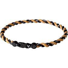 "Phiten Tornado Titanium Necklace 22"" Black and Gold NWT"