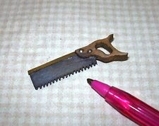 "Miniature ""Sir Thomas Thumb"" Back Saw: DOLLHOUSE Miniatures Tool 1:12"