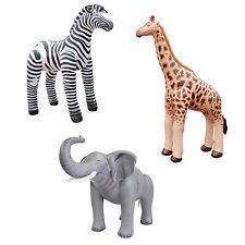 Inflatable African animals - set of 3 , Zebra,Giraffe,Elephant. Schools/Kids