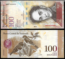 World Paper Money - Venezuela 100 Bolivares 2013 Series Bm8 @ Crisp Unc