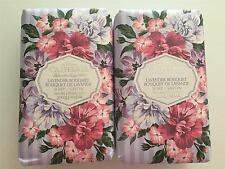 2 Pack Castelbel Scented Bar Soap  Gift Paper Lavender Bouquet Triple Milled