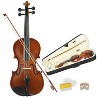 Gs Tangerine 4/4 Full Size Violin Handed Natural Acoustic Fiddle w/case Bow
