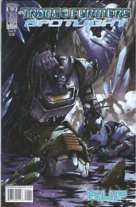 IDW Comics 2007 Transformers Spotlight KUP #1 Milne Variant Very Fine Bag/Board