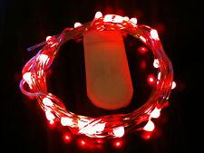 20 LED RED CR2032 Battery String Light 2m long SW - UK Seller/Stock