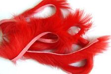 3 x BANDE de LAPIN ROUGE montage mouche peche peau red fly tying zonker