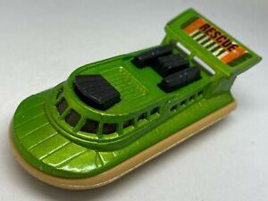 Matchbox Lesney Superfast No 72 & 2 Green Hovercraft - Near Mint