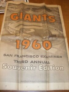 1960 San Francisco Examiner Giants Candlestick Park Opening Day Sports Sections