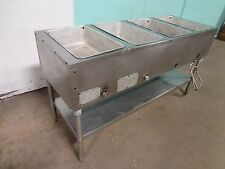 """"""" EAGLE """" H.D. COMMERCIAL S.S NATURAL GAS 4 HOT WELLS KITCHEN LINE SERVING TABLE"""