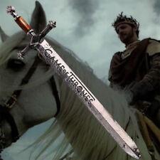 Game Of Thrones Sword Vintage Antique Silver Letter Opener Men Enamel Necklace .