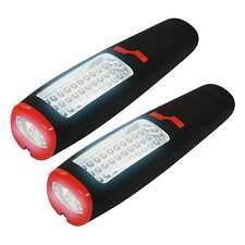 EAXUS® 2 x Arbeitsleuchte 37 LED Taschen-Werkstatt-Lampe Kfz Licht Magnet Hacken