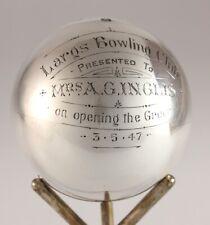 Glasgow Plata Bola De Boliche Trofeo. Largs Bolos Club abrir el verde 1947